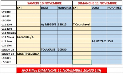 Week end 10 et 11/11
